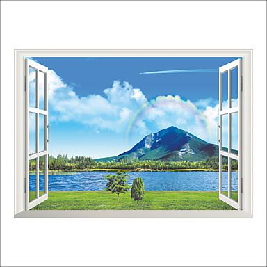 لواصق حائط مزخرفة - لواصق مناظر طبيعية / النباتية / 3D غرفة الجلوس / غرفة النوم / دورة المياه
