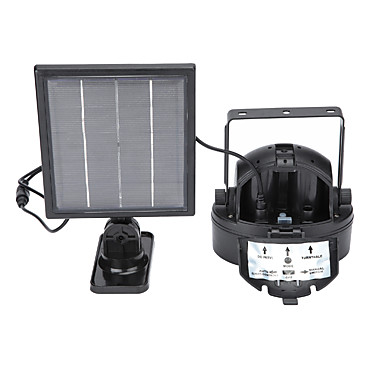 5W Luzes Solares LED Recarregável Instalação Fácil Impermeável Decorativa Iluminação Externa Verde Vermelho DC5