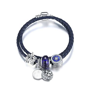 Mulheres Enrole Pulseiras - Amigos Fashion Pulseiras Azul Para Aniversário / Presente / namorados