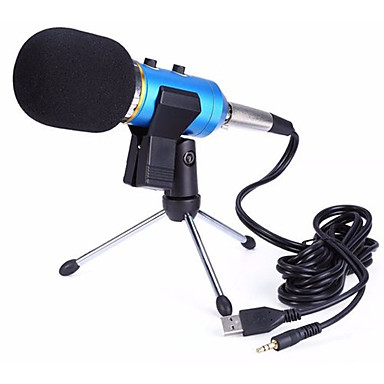 abordables Microphones-3.5mm Microphone A Fil Microphone à Condensateur Microphone à Main Pour Microphone d'Ordinateur