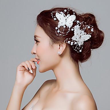 abordables Coiffes-Dentelle Fleurs / Pince à cheveux / Outil de cheveux avec 1 Mariage / Occasion spéciale / De plein air Casque