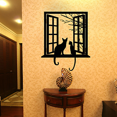 Animals Leisure Holiday Wall Stickers 3D Wall Stickers Decorative Wall Stickers 3D, Paper Home Decoration Wall Decal Wall Window