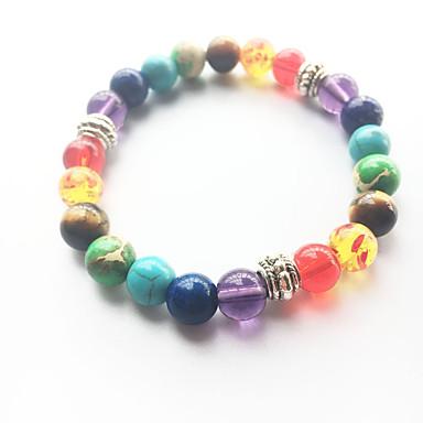 voordelige Herensieraden-Turkoois Kralenarmband yoga Armband kralen Regenboog Natuur Modieus energie Genezing Steen Armband sieraden Regenboog Voor Bruiloft Feest Sport