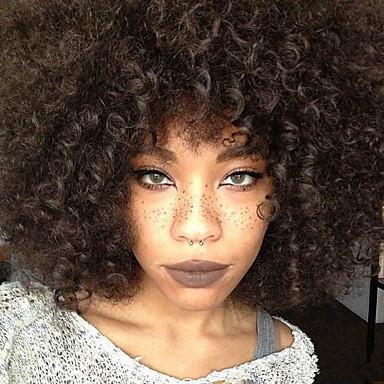 الاصطناعية الباروكات الأفرو شعر مستعار صناعي أسود شعر مستعار للمرأة قصير دون غطاء أسود