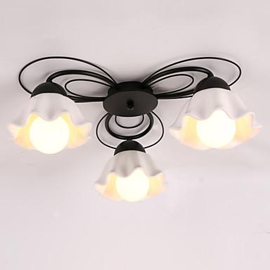 3-luz Montagem do Fluxo Luz Ambiente - Estilo Mini, 110-120V / 220-240V Lâmpada Não Incluída / 5-10㎡ / E26 / E27