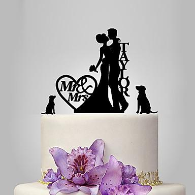 Decorações de Bolo Tema Jardim Tema Clássico Tema rústico Casal Clássico Acrílico Casamento Aniversário Chá de Cozinha com PPO