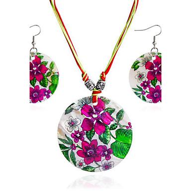 للمرأة مجموعة مجوهرات - أسلوب بسيط تتضمن اطقم ذهب و مجوهرات أحمر وردي من أجل هدية يوميا فضفاض