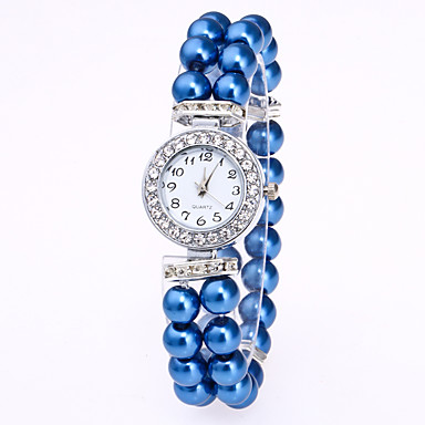 baratos Relógios Senhora-Mulheres Bracele Relógio Relógio de diamante Quartzo Branco / Vermelho / Rosa Relógio Casual Analógico senhoras Elegante - Vermelho Rosa claro Azul Leopardo Um ano Ciclo de Vida da Bateria