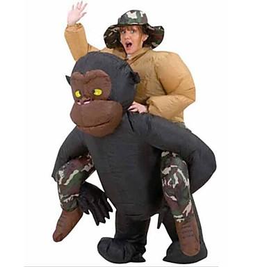 Chimpanzé Fantasias de Cosplay Baile de Máscara Artigos de Halloween Cosplay de Filmes Preto Mais Acessórios Dia Das Bruxas Carnaval
