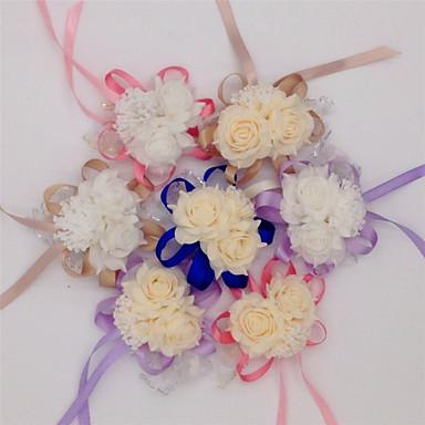 10 Ast Seide PU andere Rosen Tisch-Blumen Künstliche Blumen
