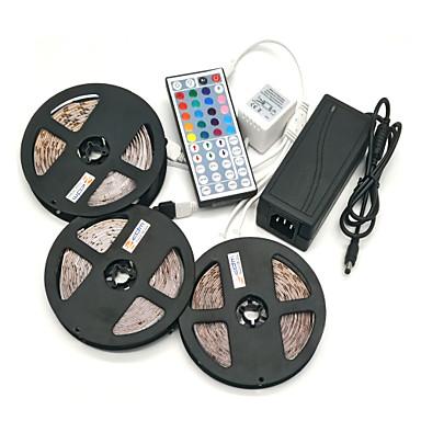 ZDM® 15m Conjuntos de Luzes 450 LEDs 5050 SMD RGB Controlo Remoto / Cortável / Regulável 100-240 V / Conetável / Auto-Adesivo