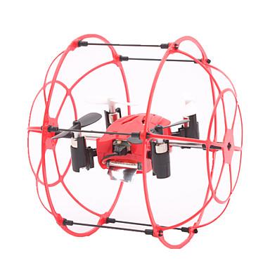 RC Drone TKKJ M66 Canal 4 6 Eixos 2.4G Sem câmera Quadcópero com CR Luzes LED Vôo Invertido 360° Flutuar Quadcóptero RC Controle Remoto 1