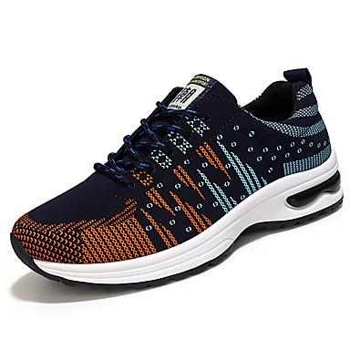 Homens sapatos Tule Primavera / Outono Tênis Caminhada Laranja / Cinzento / Preto / Vermelho