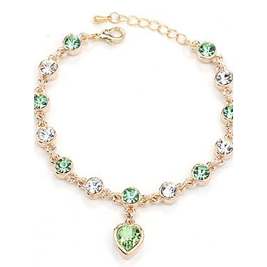 Dámské Řetězové & Ploché Náramky Šperky Vintage příroda Ručně Vyrobeno Módní Křišťál Slitina Kulatý Nepravidelný Srdce Šperky Svatební