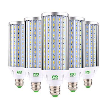abordables Ampoules électriques-ywxlight® 60w e26 / e27 lumières de maïs led 160 smd 5730 5850-5950 lm blanc chaud froid blanc décoratif ac 85-265 v
