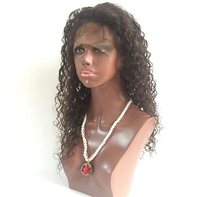 Přírodní vlasy Se síťovanou přední částí Paruka Kinky Curly 150% Hustota 100% ručně vázaná Afroamerická paruka Přírodní vlasová linie