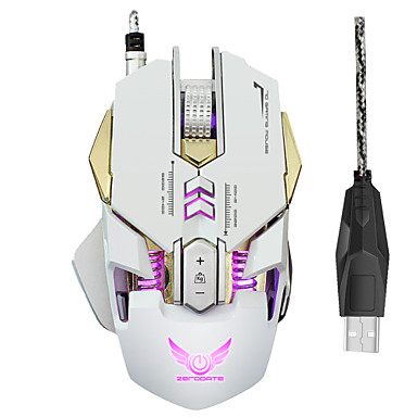 ZERODATE Wired USB Gaming Mouse Optical X300 7 pcs keys Led breathing light 4 Adjustable DPI Levels 7 programmable keys 3200 dpi