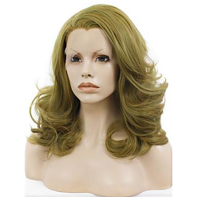 Synthetische Lace Front Perücken Wellen Natürlicher Haaransatz Damen Spitzenfront Cosplay Perücke Medium Synthetische Haare