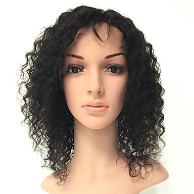 Emberi haj Csipke Paróka Göndör Paróka 130% Haj denzitás Természetes hajszálvonal Afro-amerikai paróka 100% kézi csomózású Női Közepes Hosszú Emberi hajból készült parókák