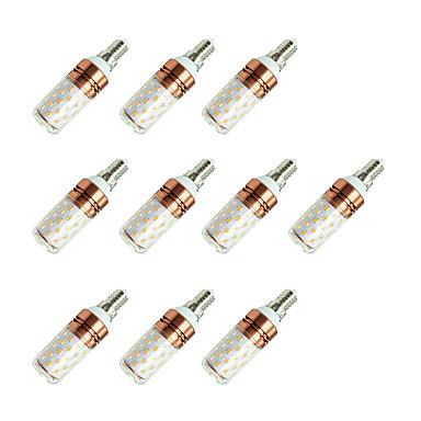10pçs 8W 800lm E14 Lâmpadas Espiga T 60 Contas LED SMD 2835 Branco Quente / Branco Frio / 10 pçs