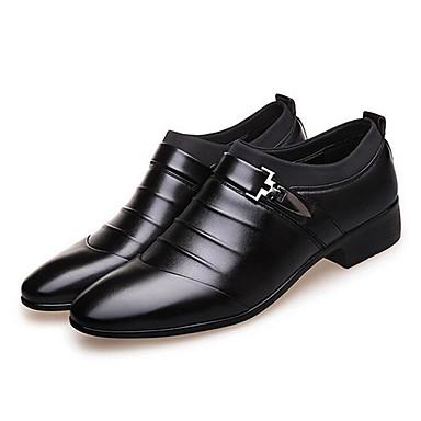 Homens Sapatos formais Couro Ecológico Primavera / Outono Negócio Botas Caminhada Preto / Marron / Casamento / Festas & Noite
