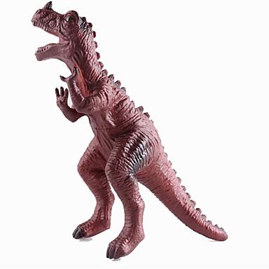 Dragões & Dinossauros Brinquedos Figuras de dinossauro Dinossauro jurássico Triceratops Tiranossauro Rex Silicone Plástico Crianças Peças