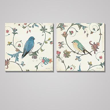 Reprodukce maleb na plátně Zvíře Moderní Klasický,Dva panely Plátno Čtvercový Tisk Art Wall Decor For Home dekorace