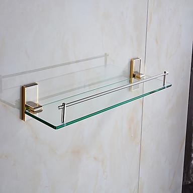 1pç Alta qualidade Neoclassicismo Mistura de Material Prateleira de Banheiro Montagem de Parede