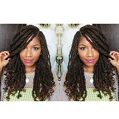 1 senegalese crochet braids with curly end kanekalon twist hair extension synthetic braiding hair
