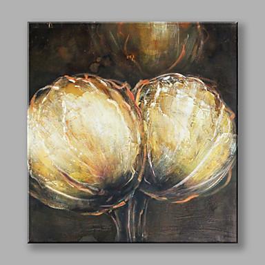 Handgemalte Blumenmuster/Botanisch Quadratisch, Blume Segeltuch Hang-Ölgemälde Haus Dekoration Ein Panel