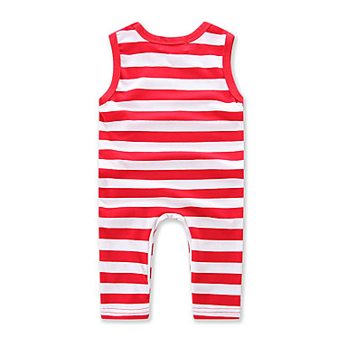 Baby Girls' Stripes Stripe / Fashion Sleeveless Cotton Overall & Jumpsuit / Toddler