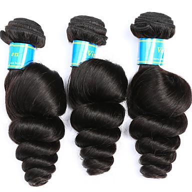Brasilianisches Haar Lose gewellt Menschliches Haar Webarten 3 Stück Menschenhaar spinnt