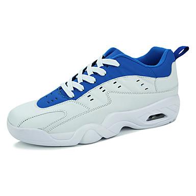 Homens sapatos Couro Ecológico Primavera Outono Conforto Tênis Caminhada Cadarço para Atlético Branco/Preto Vermelho/Branco Branco/azul
