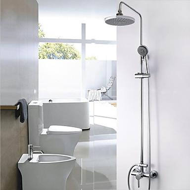 Duschsystem Regendusche Wand Keramisches Ventil Zwei Löcher Zwei Griffe Zwei Löcher Duscharmaturen
