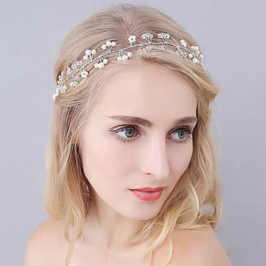 Cristal Imitação de Pérola Tiaras Headbands Cadeia da cabeça 1 Casamento Ocasião Especial Ao ar livre Capacete