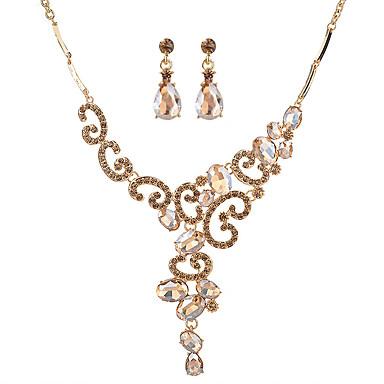 Mulheres Cristal Conjunto de jóias - Original Incluir Dourado / Branco / Preto Para Casamento / Aniversário / Housewarming