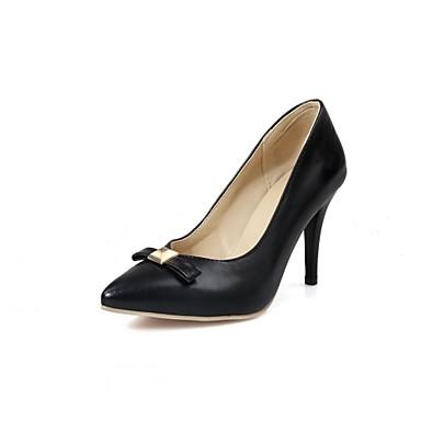 Mulheres Sapatos Couro Ecológico Courino Sintético Primavera Outono Inovador Conforto Saltos Caminhada Salto Agulha Dedo Apontado Poa para