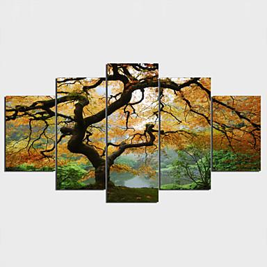 Reprodukce maleb na plátně Nepravidelný styl rustikální design,Pět panelů Horizontální Grafika Wall Decor For Home dekorace
