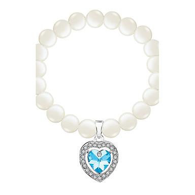 Dámské Řetězové & Ploché Náramky Strand Náramky Šperky Vintage příroda Módní Ručně Vyrobeno Perly Křišťál Slitina Oval Shape Šperky Pro