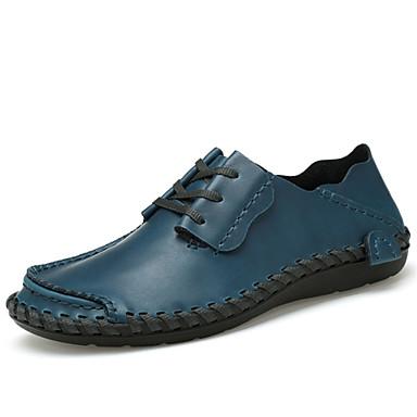 Men's Light Soles Cowhide Spring / Fall Comfort Sneakers Dark Brown / Blue / Light Brown