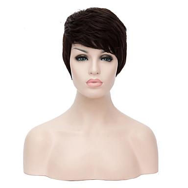 Cabelo Sintético perucas Encaracolado Sem Touca Peruca Natural Curto Preta