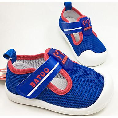 Tyttöjen kengät Tyll Kevät Syksy Ensikengät Tasapohjakengät Kävely Tarranauhalla Käyttötarkoitus Kausaliteetti Sininen Pinkki