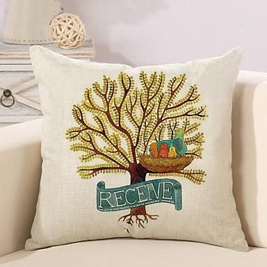 1 Stück Baumwolle/Leinen Kissenbezug,Bäume/Blätter Neuheit Modisch Retro Freizeit Traditionell-Klassisch Neoklassisch Europäisch