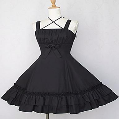 Gothic Lolita Princeznovské Dámské Dívčí Svetrová sukně Cosplay Černá Modrá Košíček Krátký rukáv Krátký / Mini