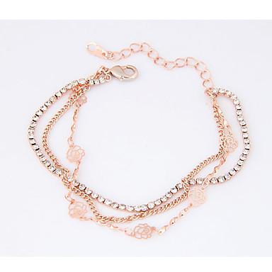 Women's Charm Bracelet - Flower Dainty, Fashion Bracelet Gold For Party