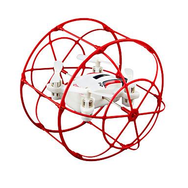 RC Drone JJRC HY370 Red 4CH 6 Eixos 2.4G Sem câmera Quadcópero com CR Luzes LED Vôo Invertido 360° Flutuar Quadcóptero RC Controle Remoto