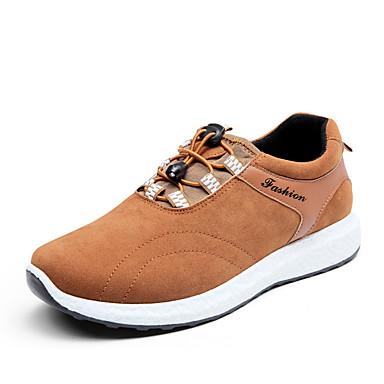 Herren Schuhe PU Frühling Sommer Komfort Sneakers Schnürsenkel Für Sportlich Normal Schwarz Grau Gelb Blau