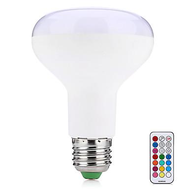 10W 580-700 lm E27 Lâmpada de LED Inteligente R80 38 leds SMD 5050 Decorativa Controle Remoto Branco Quente RGB AC 85-265V