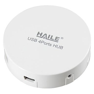 Haile hu-01 bílý mini-round 4port usb 2.0 hub s 80cm kabelem
