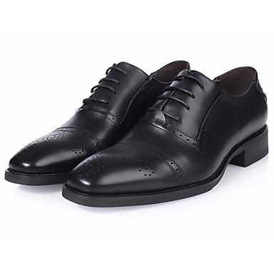 Miehet kengät Tyll Nahka Kevät Comfort Oxford-kengät Käyttötarkoitus Kausaliteetti Musta Burgundi